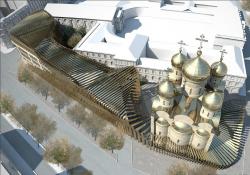 Конкурсный проект духовно-культурного центра в Париже (Е.Ленок)