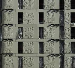Niall McLaughlin Architects. Фасад корпуса «Деревни спортсменов» в Лондоне. Фото с сайта architectural-review.com