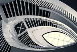 Лестница Музея современного искусства в Чикаго