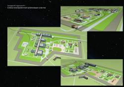 Vostochny spaceport. Scheme of the site layout planning