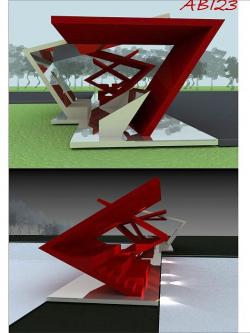 Trimo Urban Crash 2011. Конкурсный проект универсальной сцены. Код проекта AB123