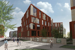 "Architectural concept of residential complex on 18-20G site of mixed-use complex ""Red October"""