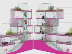 Современный «Дом мечты для Барби» оснащен солнечными панелями и комнатой для медитации
