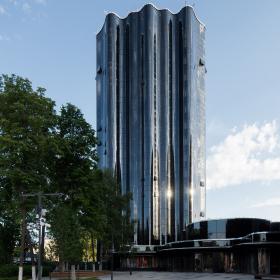 Башня «Татнефть» в Альметьевске: новые технологии остекления – уникальный четырехслойный стеклопакет с моллированием
