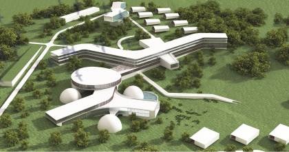 Architectural concept for the 500-people health center in the vicinity of the village of Nikitskoe in Moscow region
