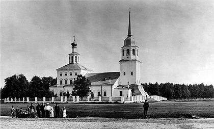 Преображенский собор на Соломбале в Архангельске. Фото начала XX века