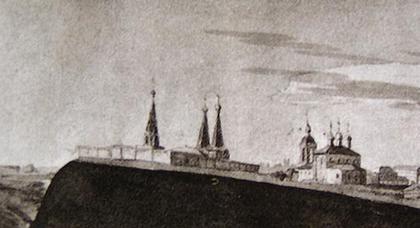 Собор Алексеевского монастыря в Чертолье. Изображение на «профилях Москвы»