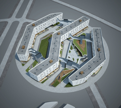 """The concept of residential housing of Site #5 of """"Skolkovo"""" innovation center. Competitive project."""