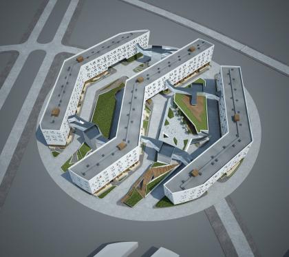 Концепция жилой застройки участка №5 района «Технопарк» иннограда «Сколково». Конкурсный проект