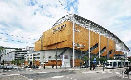 Коммерческий и досуговый центр в районе Lyon Confluence