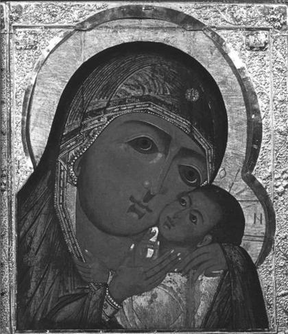 Икона начала XVII века из Новодевичьего монастыря