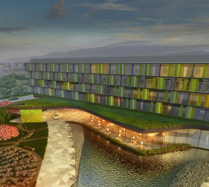 Гостиница Hilton Garden Inn под Махачкалой