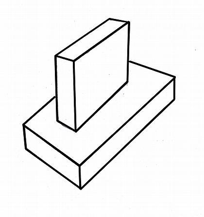 Рис. 1. Объемно-пространственное решение здания