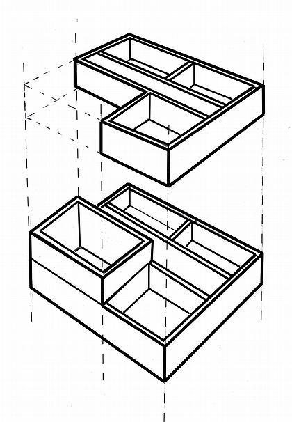 Рис. 6. Объемно-планировочное решение здании