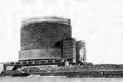 Илл. 3. Проект Дворца Советов, И.А.Голосов, 1932. ©