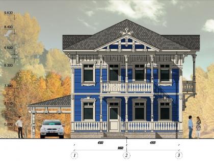 Типовой проект дома для посёлка Покровское