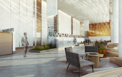 Предварительная концепция архитектурных решений интерьеров бизнес-центра «Алкон» (2-я очередь строительства)