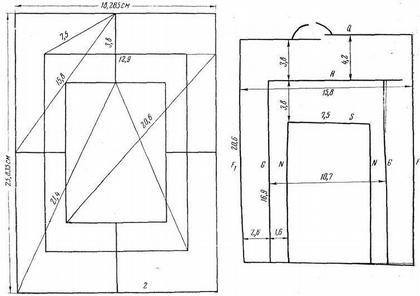 Рис. 17. Расчетный чертеж XII в. Старая Рязань. а — «вавилон»; б — отобранные из него линии