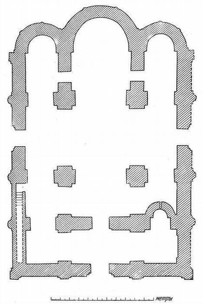 Рис. 24. Подлинный обмерный план той же церкви