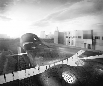 Contest project of the new building of the National Center for Contemporary Arts