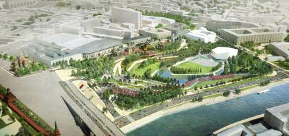 """Zaryadye"" Park. Contest project by the consortium of Reserve Group + Maxwan + Latz und Partner"