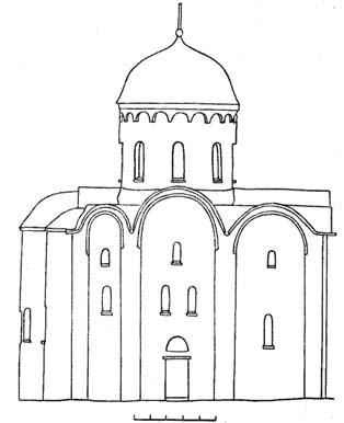 Старая Ладога. Успенская церковь. Северный фасад.