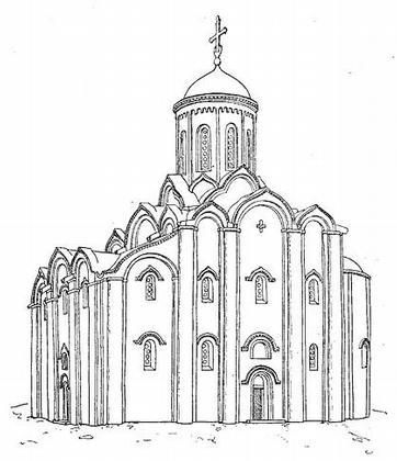 Полоцк. Спасская церковь Евфросиньева монастыря. Реконструкция.