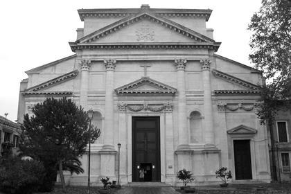 А.Палладио, Сан Пьетро ин Кастелло в Венеции, 1558. Первый палладианский фасад с базиликальным, разорванным фронтоном © А.Д. Бархин