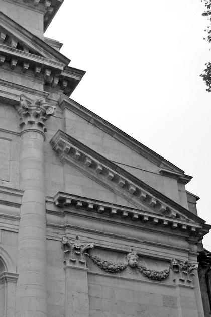 А.Палладио, Сан Пьетро ин Кастелло в Венеции, 1558. Уплощенный карниз - новация Паладио, почти не используемая впоследствии © А.Д. Бархин