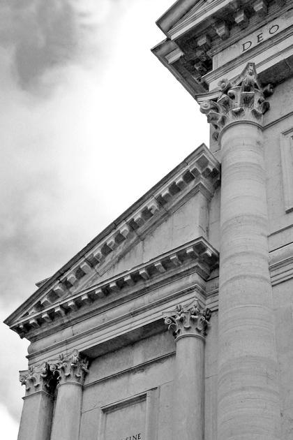 А.Палладио, Сан Франческо делла Винья в Венеции, 1564. Палладио разрабатывает новые модульоны, укороченный и силуэтом аканта (впрочем пластика листов капителей удивляет) © А.Д. Бархин