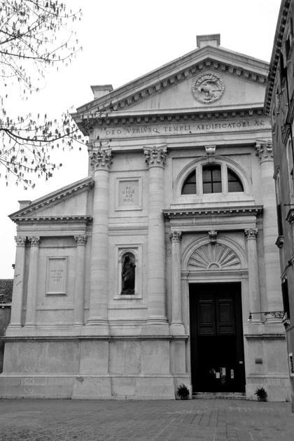 А.Палладио, Сан Франческо делла Винья в Венеции, 1564. Палладио меняет схему базиликального фронтона, большой и малый ордера стоят на одном пьедестале © А.Д. Бархин
