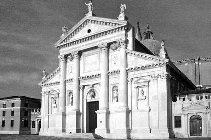 А.Палладио, Сан Джорджо Маджоре в Венеции, 1566. Базиликальный, разорванный фронтон Палладио как воплощение экспрессии © А.Д. Бархин