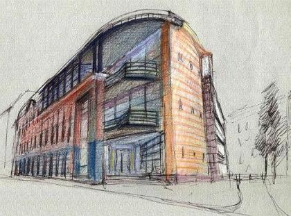 Проект здания «Диалог Банка» на Каланчевской улице