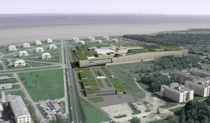 Green bastion. The contest project on architectural idea of congress centre «Konstantinovski» in Strelnya