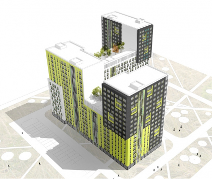 The sketch project of residential buildings for repeated application (for ′Morton′)