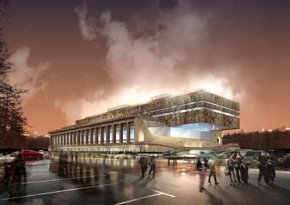 Концепция реконструкции бассейна «Лужники», архитектурное бюро Асадова