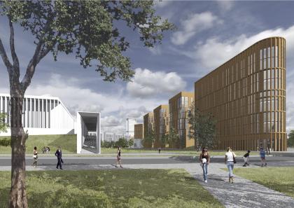 Проект застройки микрорайона М-8 жилого района «Седьмое небо» в городе Казани