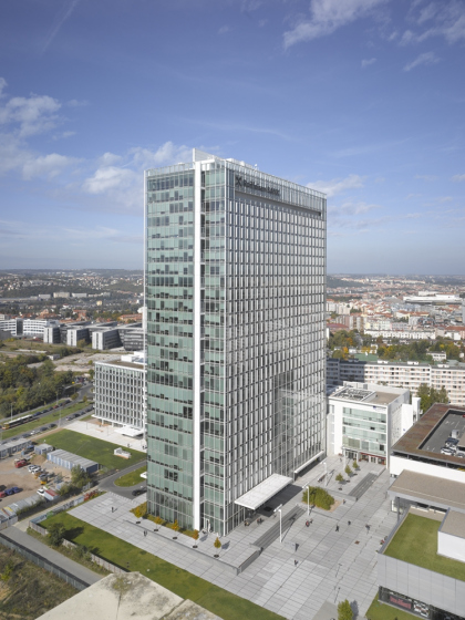ECM City Tower © Roland Halbe. Предоставлено Richard Meier & Partners Architects