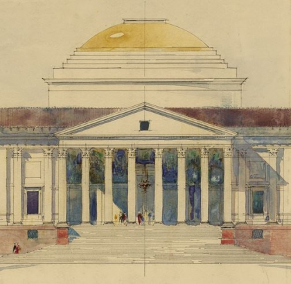 Эдвин Лаченс. Дворец вице-короля в Нью-Дели (1912) © RIBA Collections