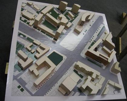 Торговый комплекс на пересечении проспекта Академика Сахарова и улицы Садовая-Спасская