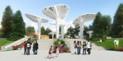 Проект реконструкции детского парка в Озёрске