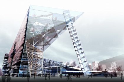 Cultural and business centre Meteor with ice stadium