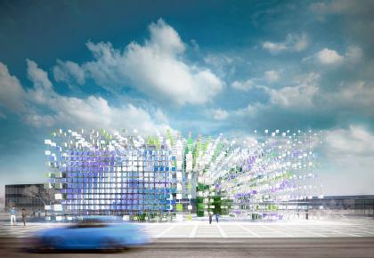 Цифровое облако. Павильон компании «МегаФон» в Олимпийском Парке на зимней Олимпиаде 2014 г. в Сочи