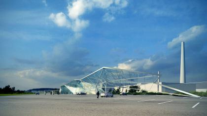 Архитектурная концепция здания центральной проходной сахарного завода Тамбовской области