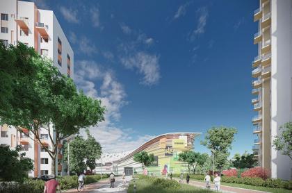 Концепция схемы планировки многоэтажной жилой застройки в Домодедово
