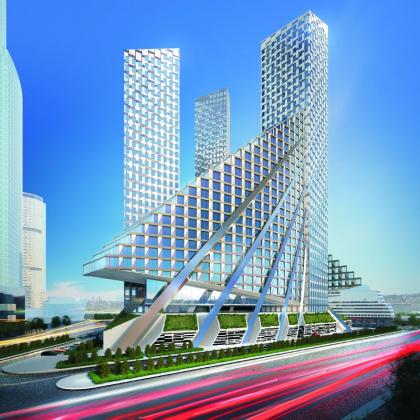 Конкурсный проект многофункционального комплекса в Москва-сити