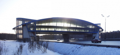 Pedestrian bridge with retail facilities, 9 km MKAD (Moscow Ring Road)