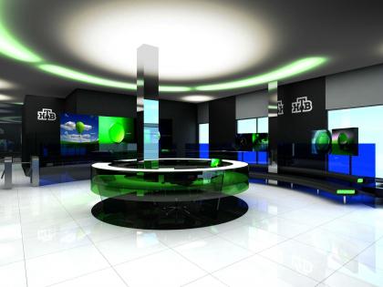 Проект вестибюля в здании телекомпании НТВ