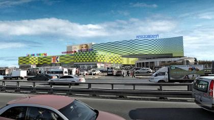 Реконструкция фасадов универмага «Крестовский»