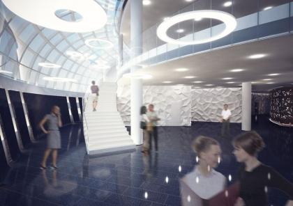 Интерьеры офисного здания космодрома «Восточный»